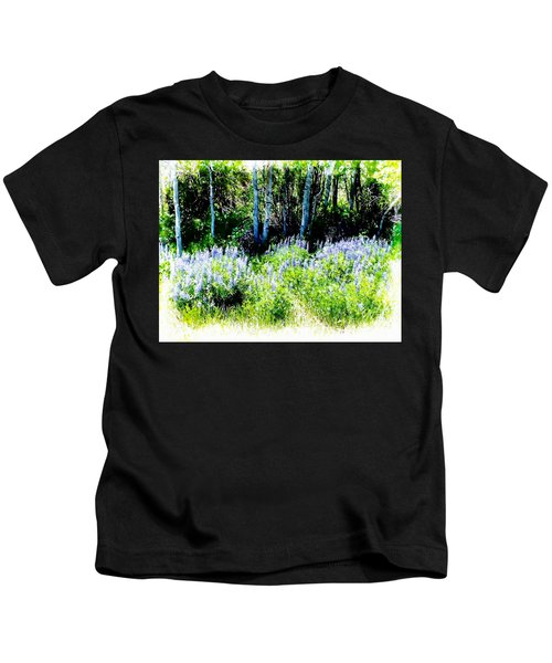 Colorado Apens And Flowers Kids T-Shirt