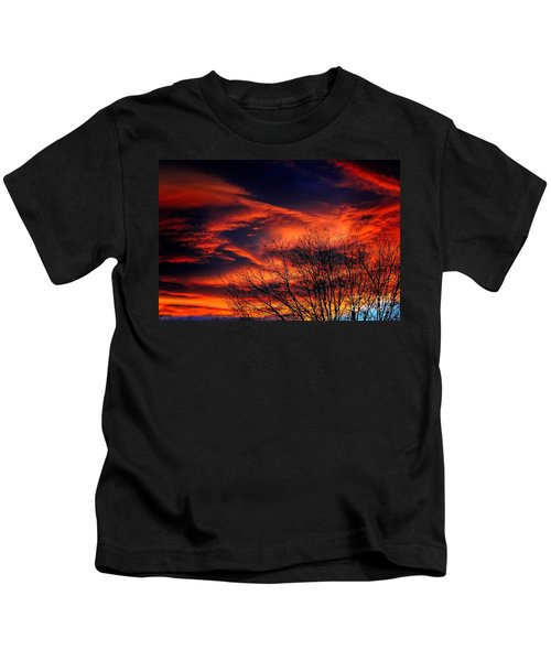 Colorado Fire In The Sky Kids T-Shirt