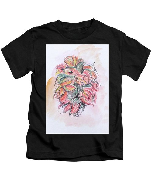 Colored Pencil Flowers Kids T-Shirt
