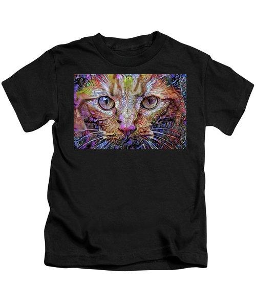 Colorful Cat Art Kids T-Shirt
