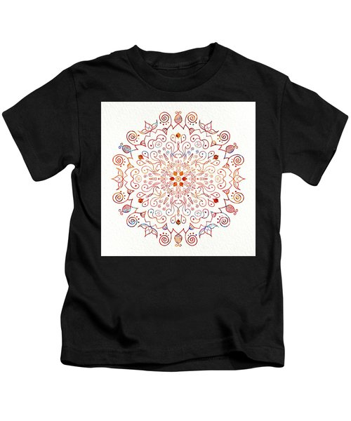 Colorful Mandala On Watercolor Paper Kids T-Shirt