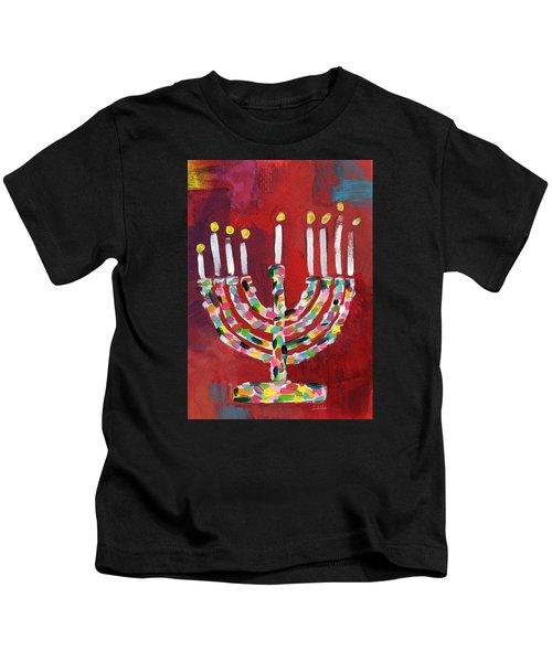 Colorful Menorah- Art By Linda Woods Kids T-Shirt