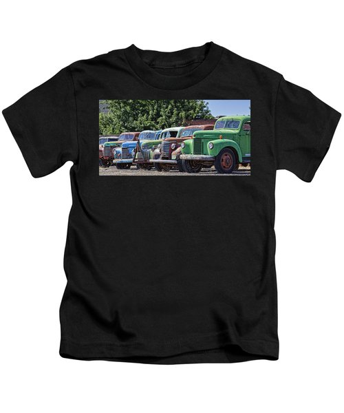 Colorful Old Rusty Cars Kids T-Shirt