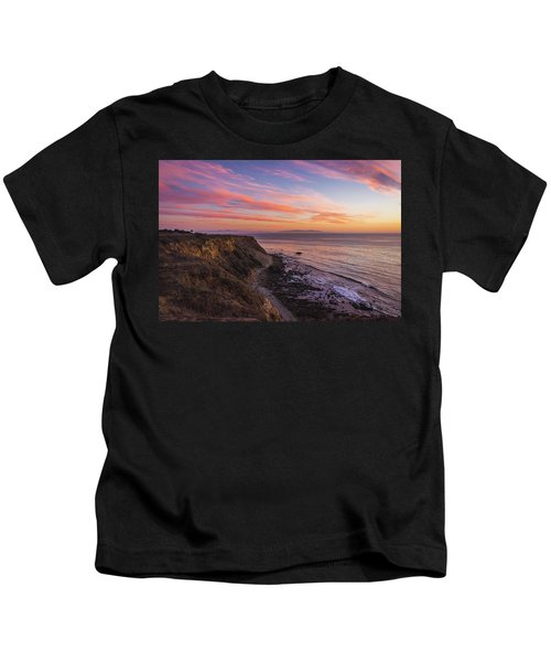 Colorful Sunset At Golden Cove Kids T-Shirt