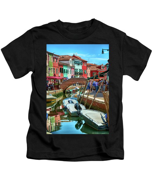 Colorful View In Burano Kids T-Shirt