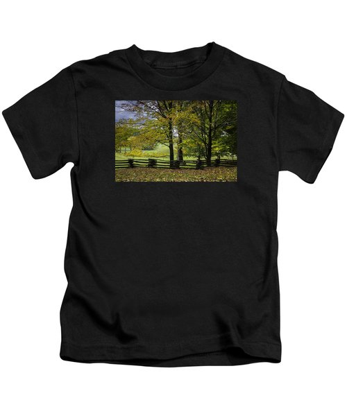 Colors At Mac Rae Field Kids T-Shirt