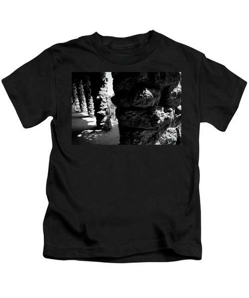 Columns Of The Park Guell Kids T-Shirt