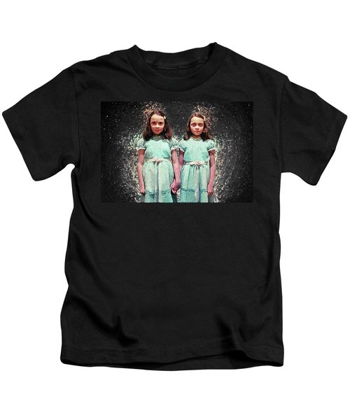 Come Play With Us - The Shining Twins Kids T-Shirt by Taylan Apukovska