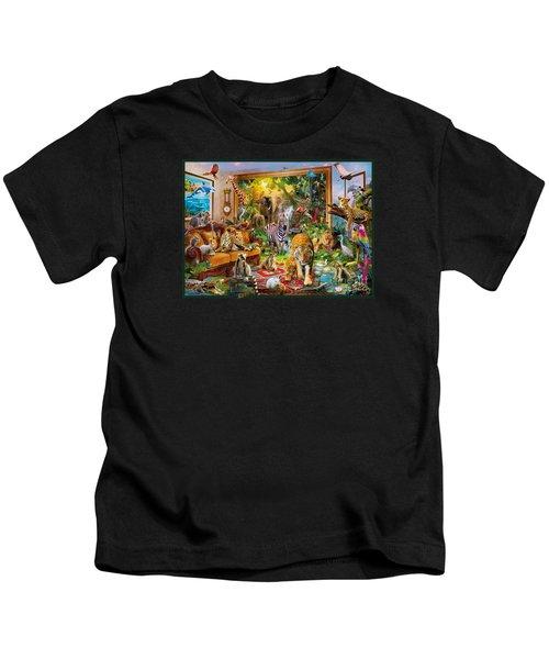 Coming To Room Kids T-Shirt by Jan Patrik Krasny
