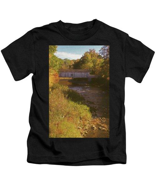 Comstock Covered Bridge Kids T-Shirt