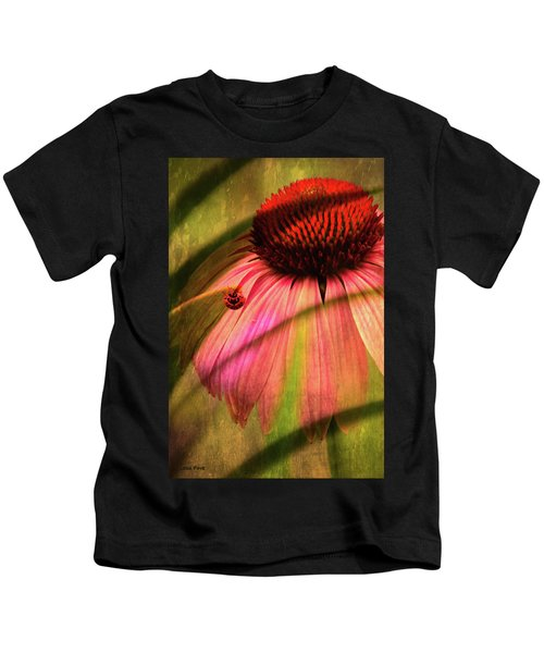 Cone Flower And The Ladybug Kids T-Shirt