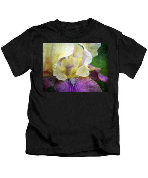 Cool Toned Purple Iris 0319 Idp_3 Kids T-Shirt