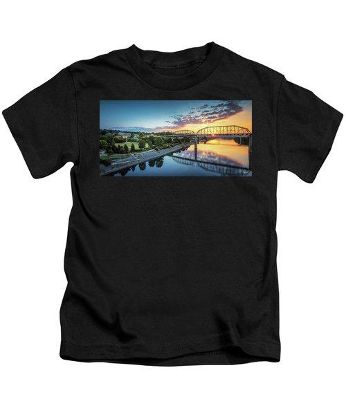 Coolidge Park Sunrise Panoramic Kids T-Shirt