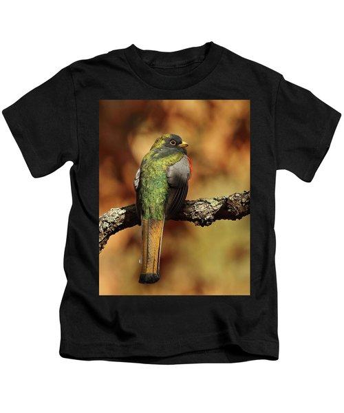 A Coppery-tailed Elegant Trogon Kids T-Shirt