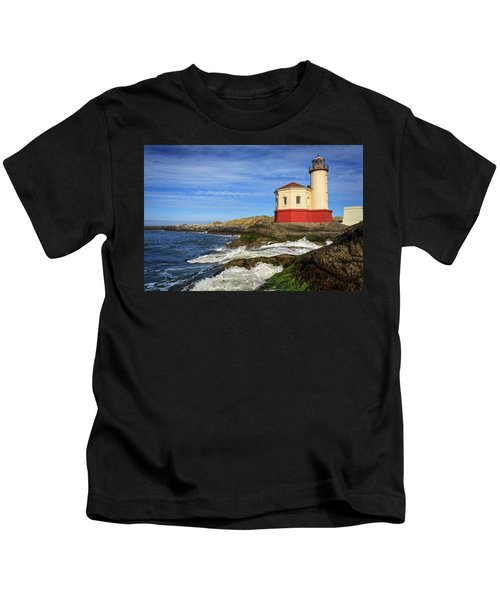 Coquille River Lighthouse At Bandon Kids T-Shirt