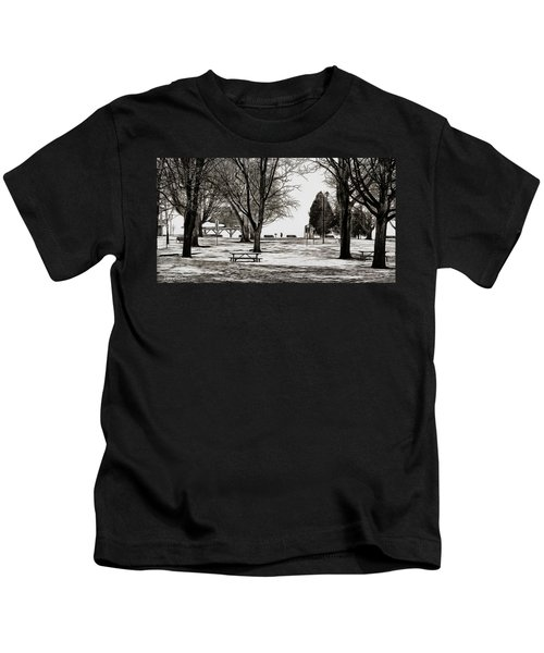 Couchiching Park In Pencil Kids T-Shirt