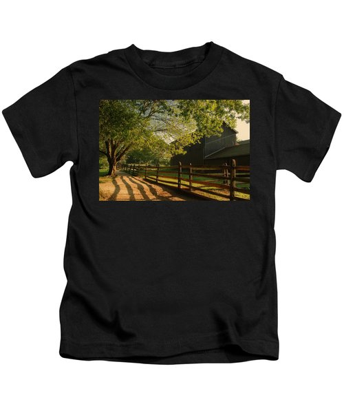 Country Morning - Holmdel Park Kids T-Shirt
