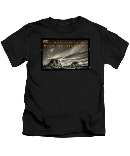 Courthouse Butte And Bell Rock Sedona Arizona Kids T-Shirt