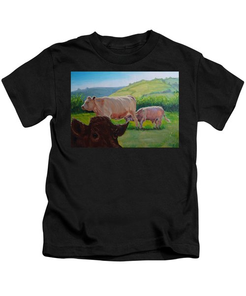 Cow And Calf Painting Kids T-Shirt