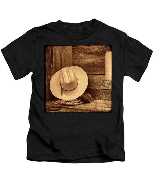 Cowboy Hat In Town Kids T-Shirt