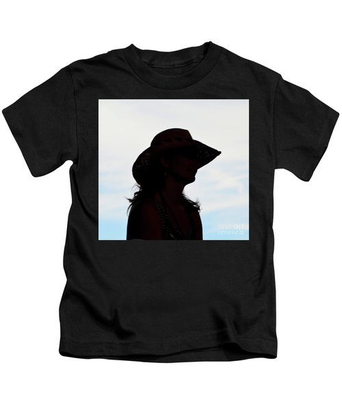 Cowgirl In The Sky Kids T-Shirt