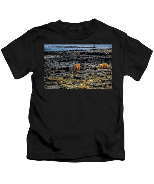 Cows On The Rocks Kids T-Shirt