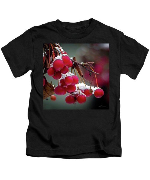 Crab Apples Snow Kids T-Shirt
