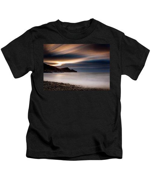Crackington Haven Sunset Kids T-Shirt