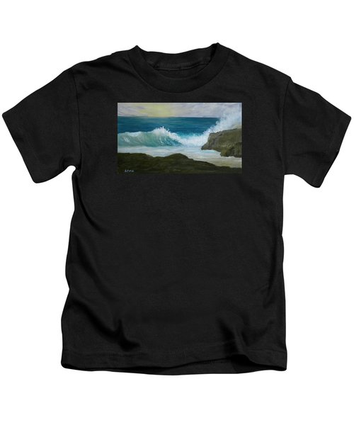 Crashing Wave 3 Kids T-Shirt