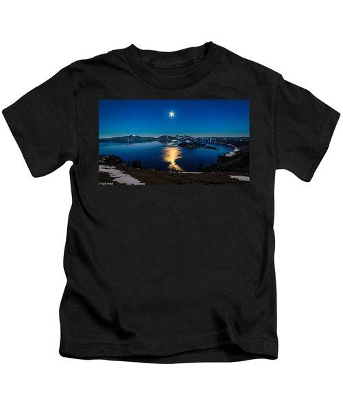 Crater Lake Moonlight Kids T-Shirt