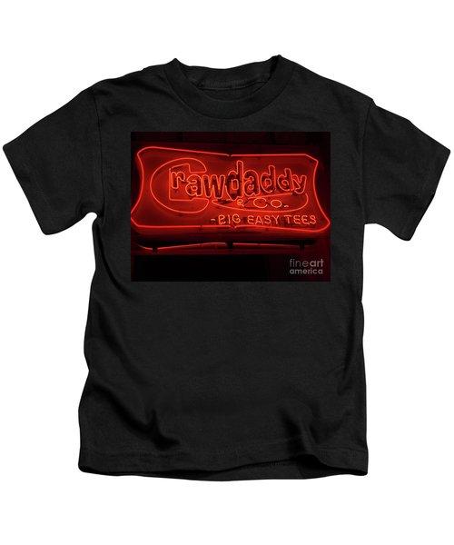 Craw Daddy Neon Sign Kids T-Shirt