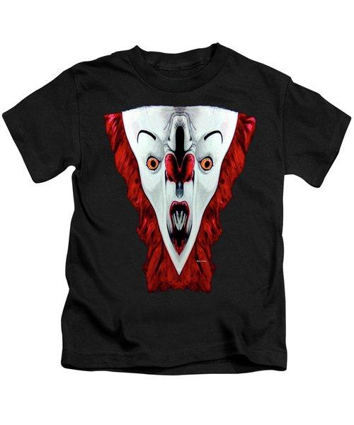 Creepy Clown 01215 Kids T-Shirt