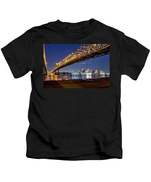 Crescent City Bridge, New Orleans Kids T-Shirt