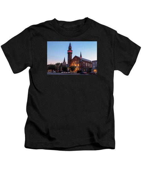 Crescent Moon Old Town Hall Kids T-Shirt