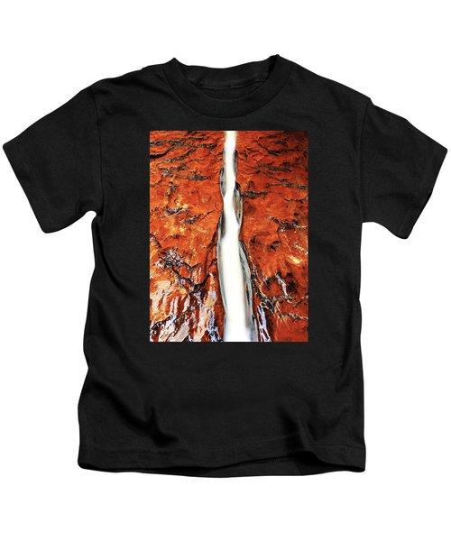 Crimson Flow Portrait Kids T-Shirt