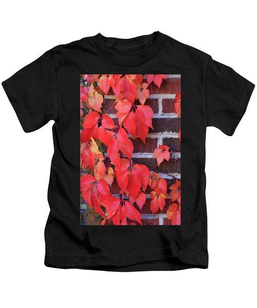 Crimson Leaves Kids T-Shirt