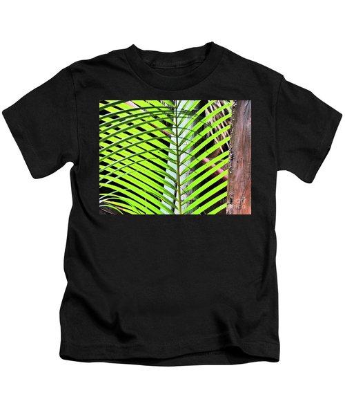 Crisscrossing Palms Kids T-Shirt