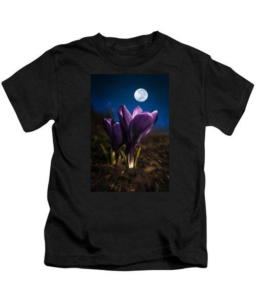 Crocus Moon Kids T-Shirt