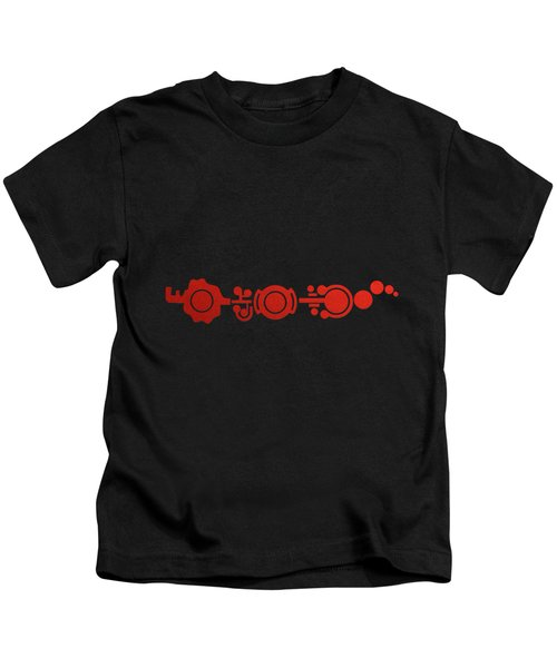 Crop Circle Formation Near Market Harborough In Leicestershire England In Red Kids T-Shirt