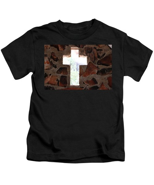 Cross Shaped Window In Chapel  Kids T-Shirt