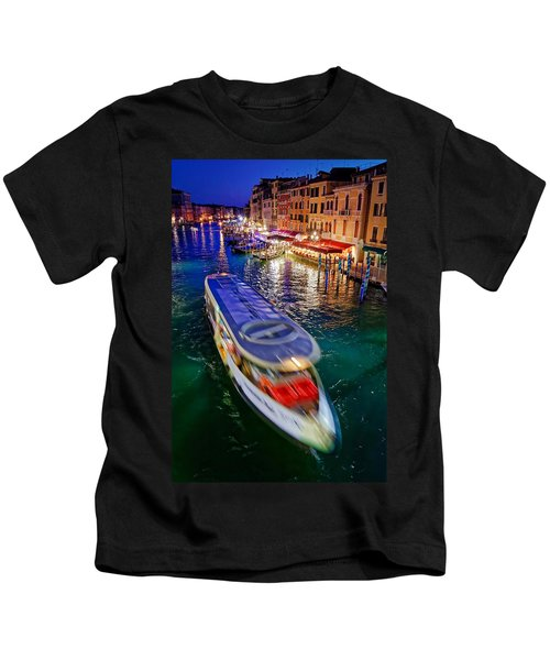 Crossing The Grand Canal Kids T-Shirt