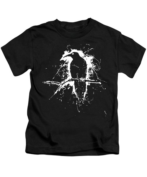 Crow Kids T-Shirt by H James Hoff