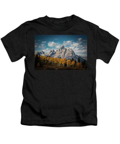 Crown For Tetons Kids T-Shirt by Edgars Erglis