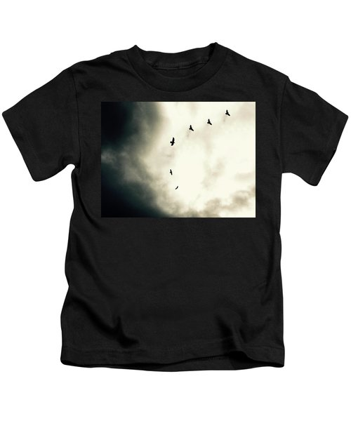 Crows On Christmas Eve 1 Kids T-Shirt