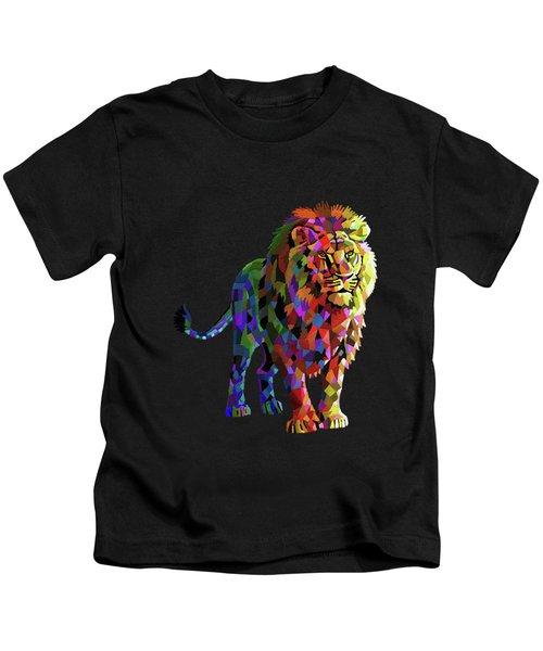 Geometrical Lion King Kids T-Shirt