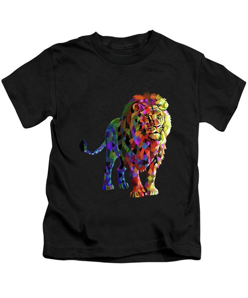 Geometrical Lion King Kids T-Shirt