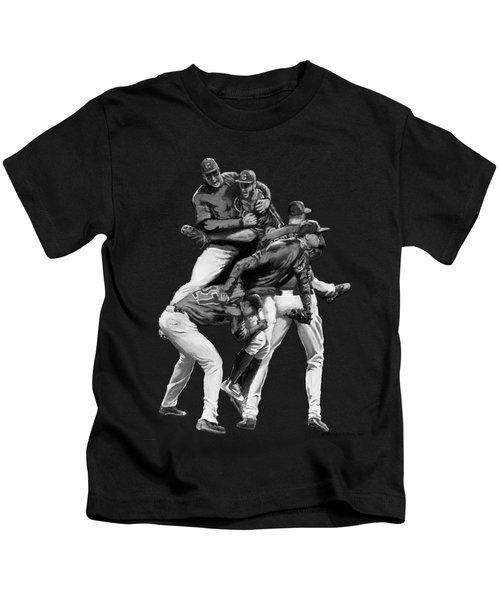 Cubs Win Black / White Kids T-Shirt