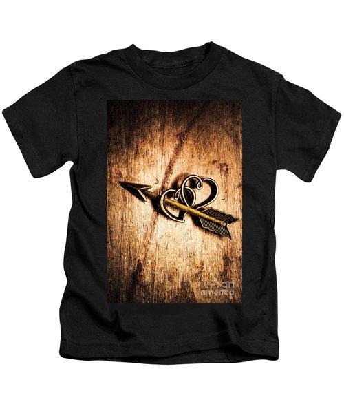 Cupid Arrow And Hearts Kids T-Shirt