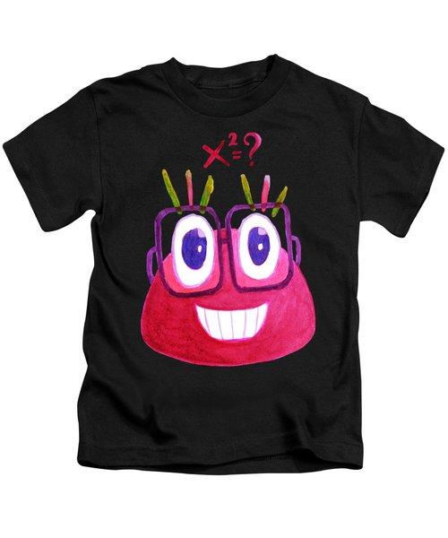 Cute Geek Mathematician Watercolor Candy Kids T-Shirt