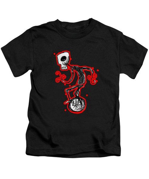 Cyclops On A Unicycle Kids T-Shirt by Matt Mawson